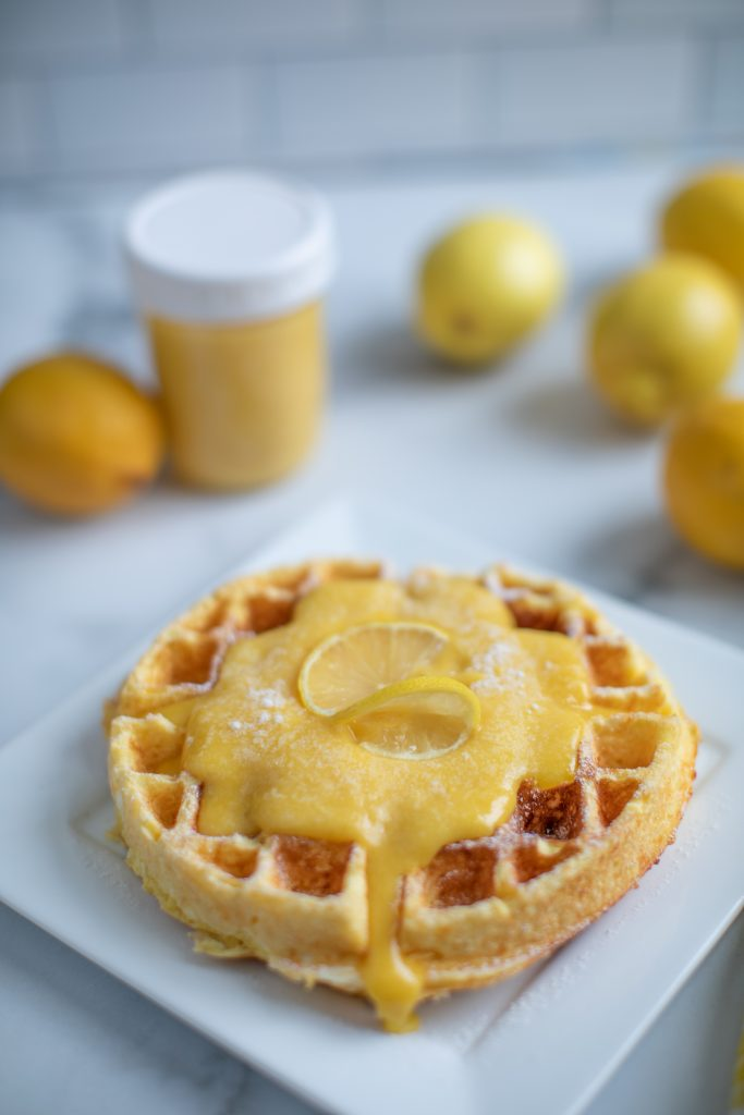 Keto Chaffle with Lemon Curd
