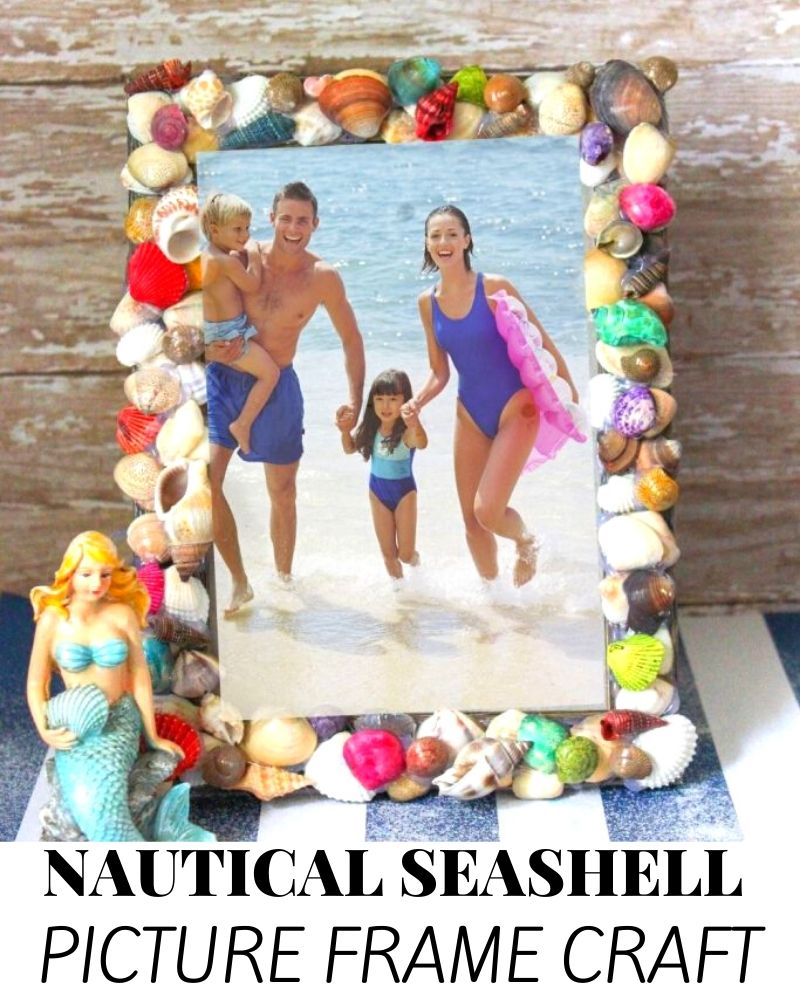 Nautical Seashell Picture Frame Craft