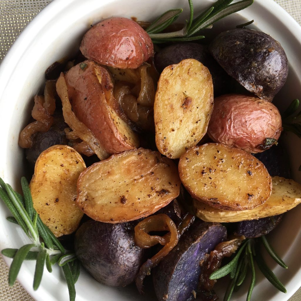 Tri-Color Rosemary Roasted Potatoes