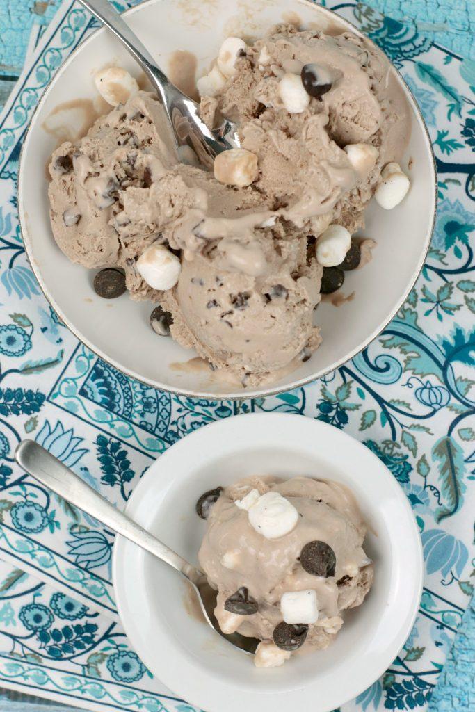 Low Calorie Rocky Road Ice Cream