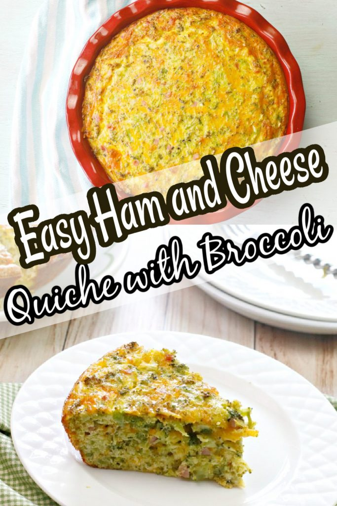 Easy Ham and Cheese Quiche with Broccoli