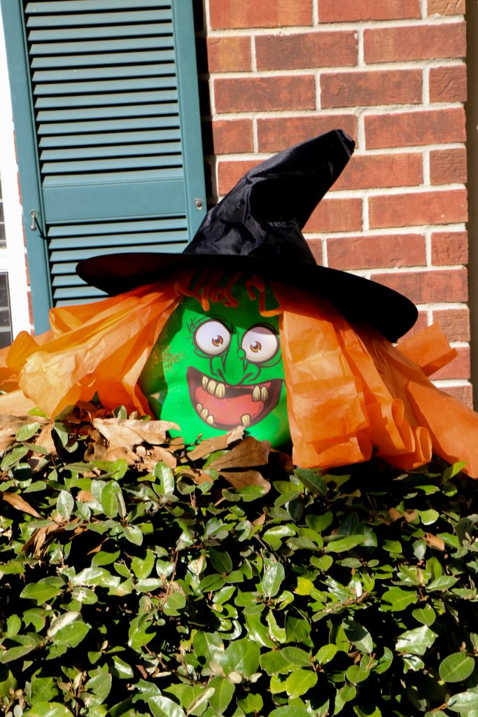 Halloween Witch from Upcycled Gain Container