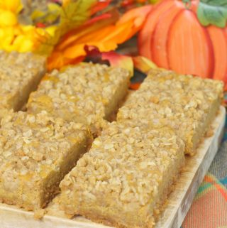 Pumpkin Bar Recipe with Streusel Topping