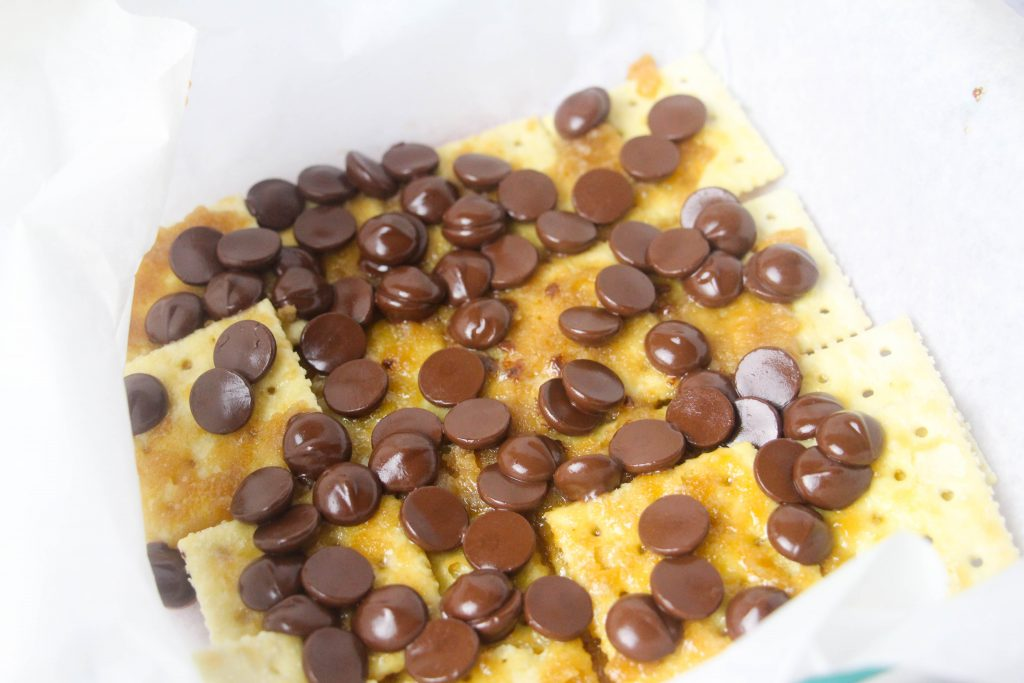 crackers with chocolate chips