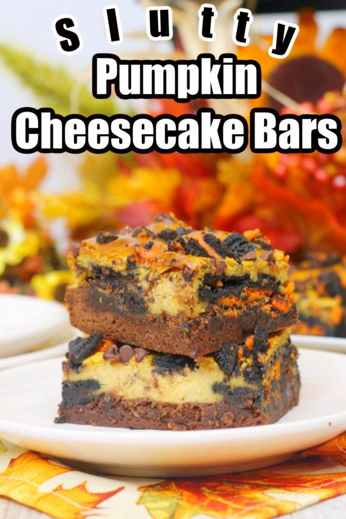 Slutty Pumpkin Cheesecake Bars