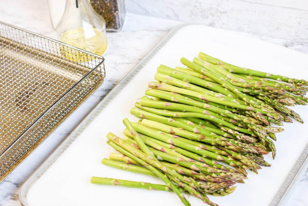 Air Fryer Asparagus on a sheet pan
