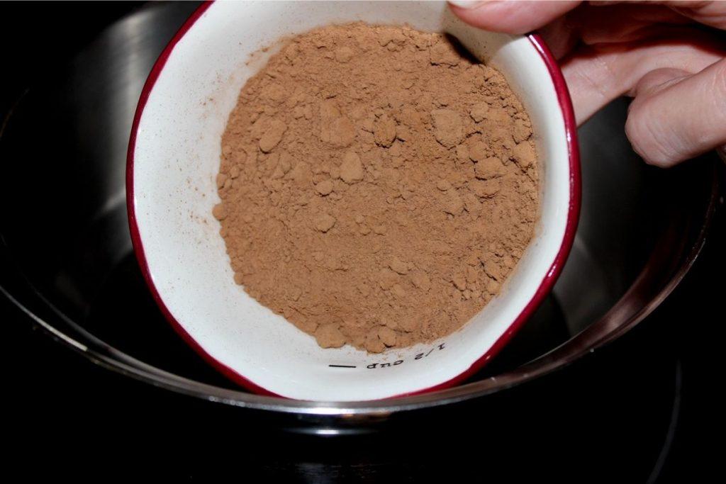 adding cocoa