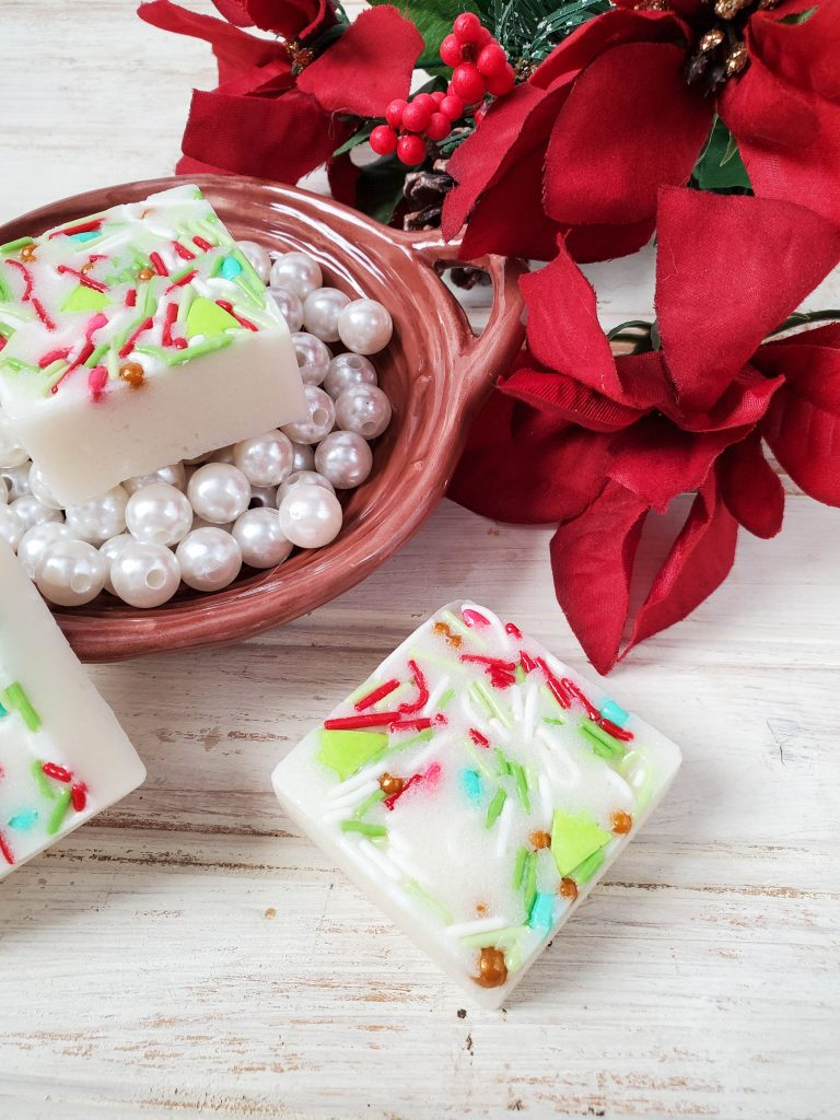 Easy to Make Sugar Cookie Scrub Bars with Sprinkles