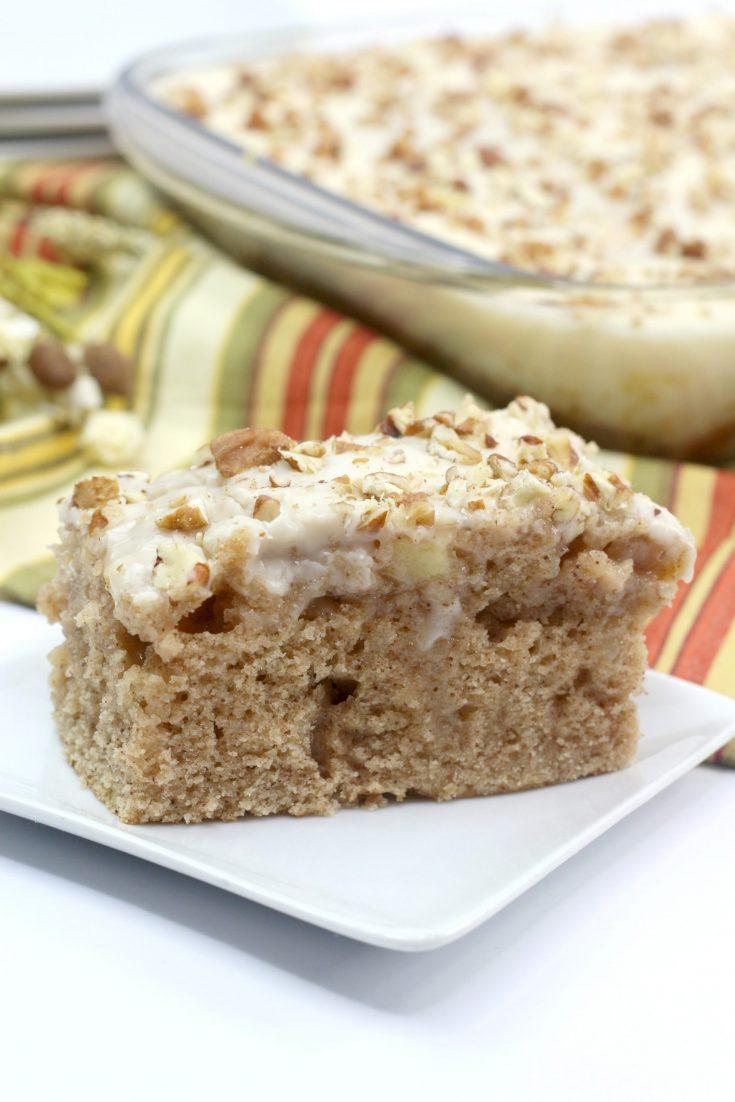 Easy to Make Caramel Apple Sheet Cake