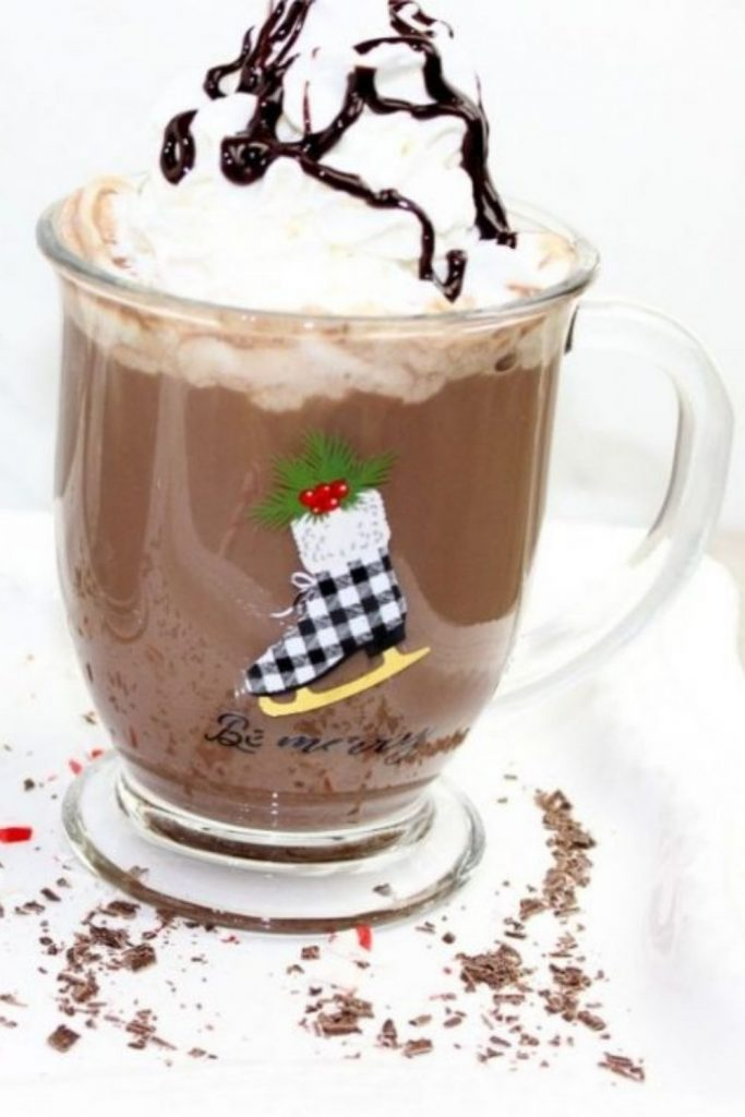The Best Boozy Peppermint Hot Chocolate