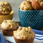 The Best Banana Nut Muffins on a table