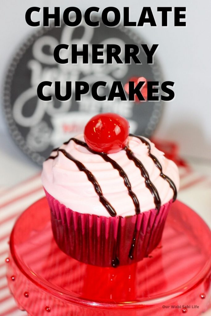 Chocolate Cherry Cupcakes for Valentines Day