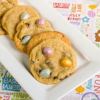 Five Cadbury Eggs Chocolate Chip Cookies