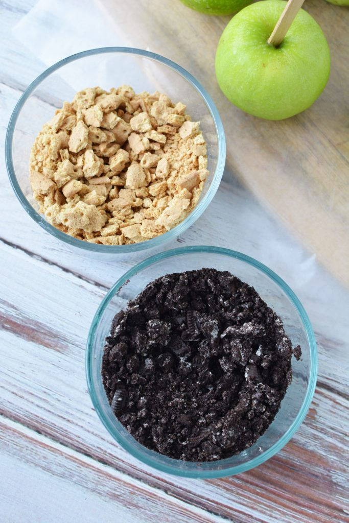 Ingredients for toppings for Caramel Apples