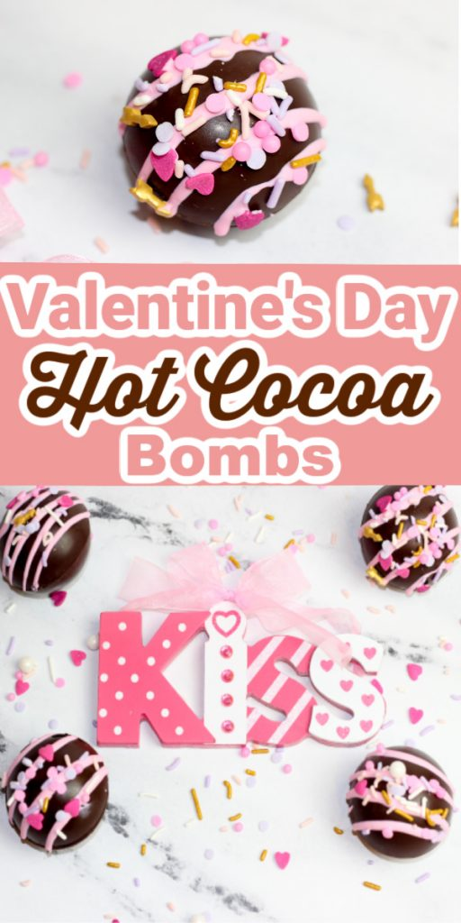 Easy to Make DIY Valentines Day Hot Cocoa Bombs