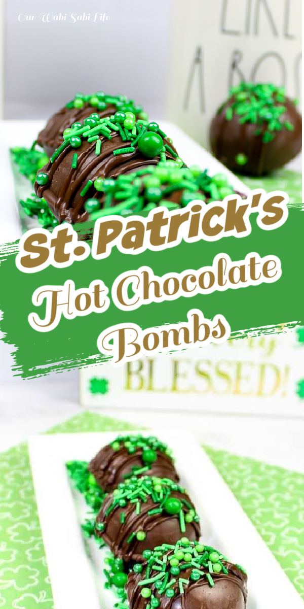 St Patrick's Day Hot Chocolate Bombs