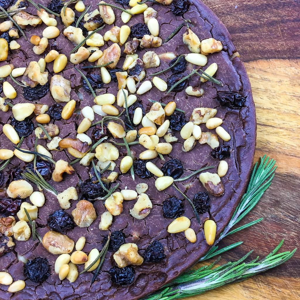 Castagnaccio cake
