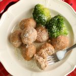 baked turkey meatballs on a plate