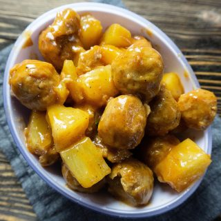 Instant Pot Honey Pineapple BBQ Meatballs