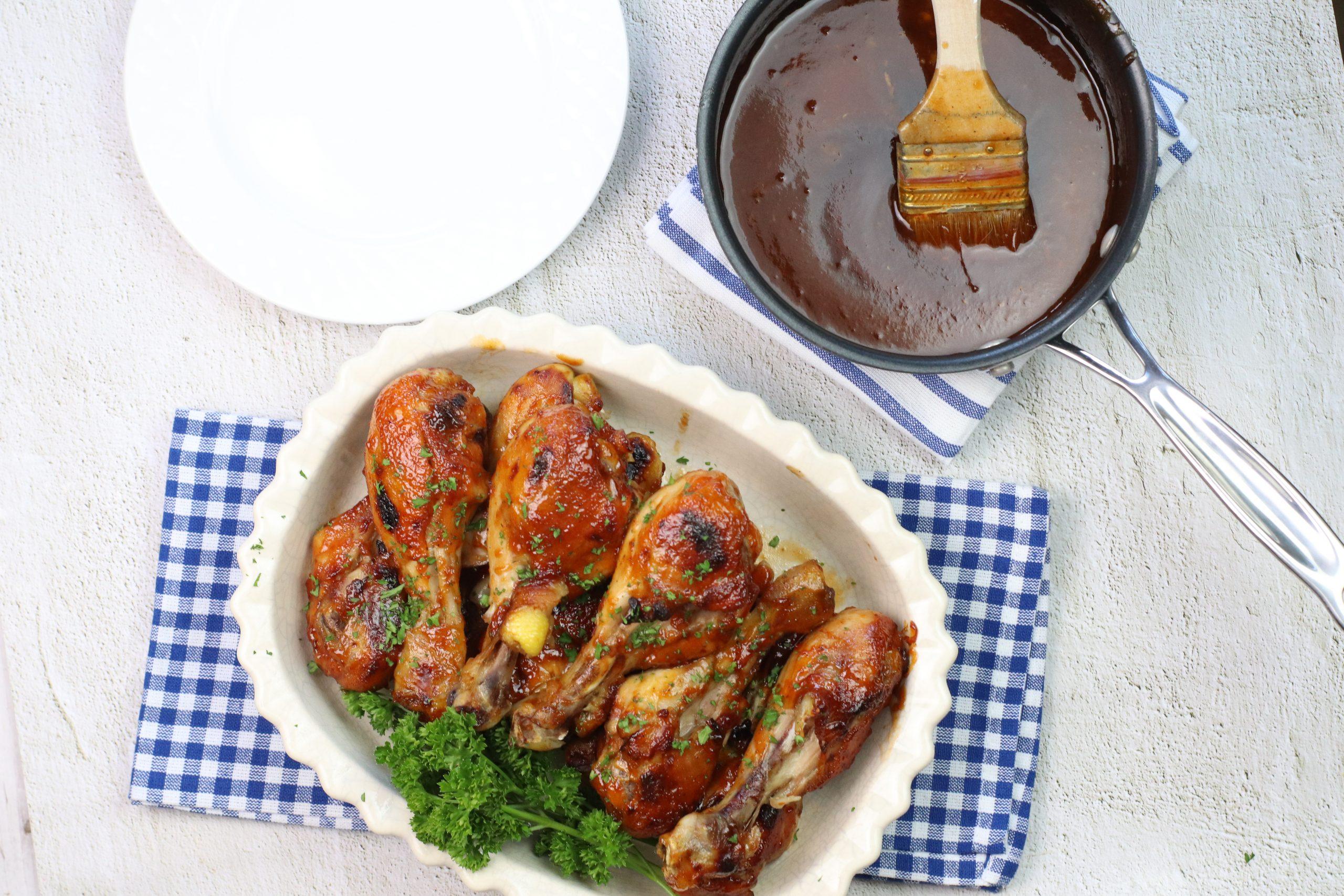 chicken leg sin baking dish