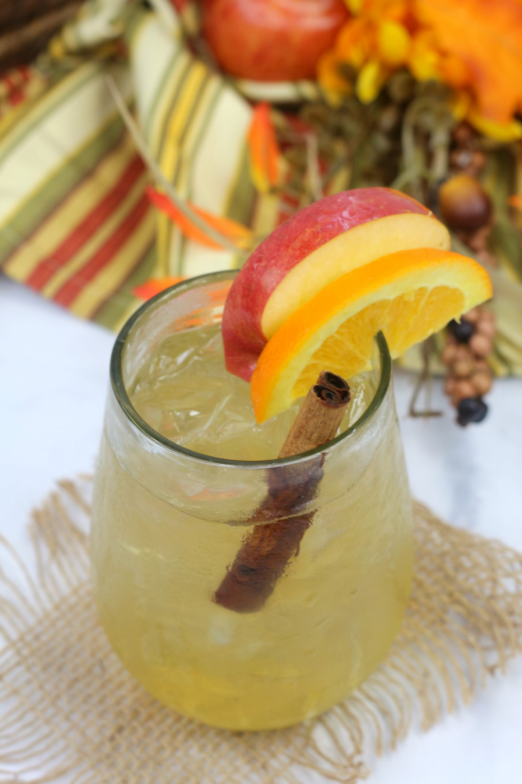 Old Fashioned with apple cider Cocktail Recipe