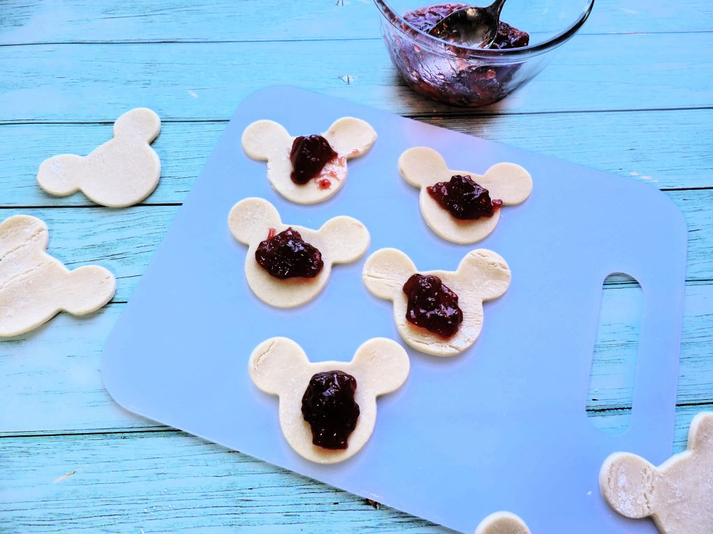 Mickey Mouse heads with preserves