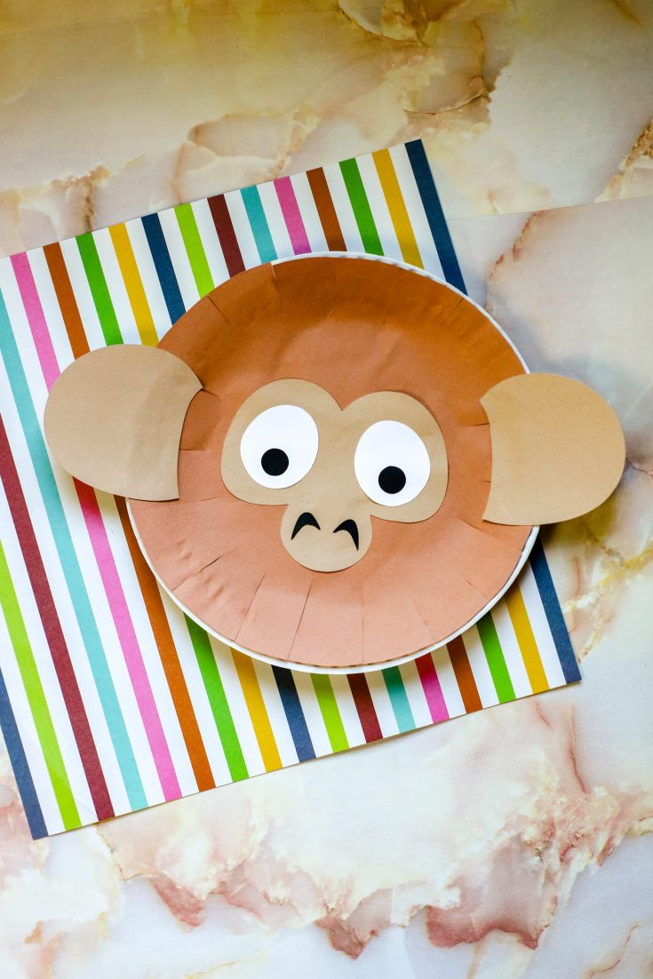 The monkey plate on a piece of paper