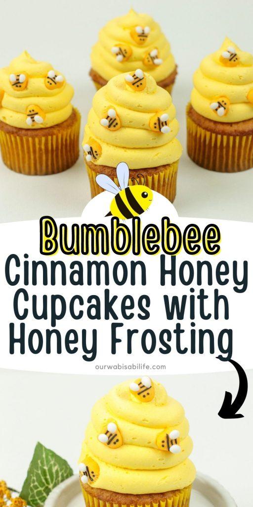 bumblebee cupcakes pinterest image