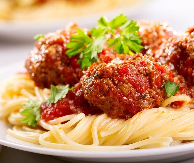 speghetti and meatballs