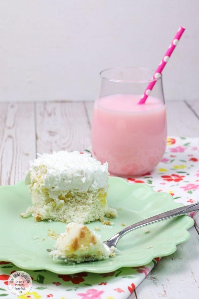 coconut poke cake with milk.