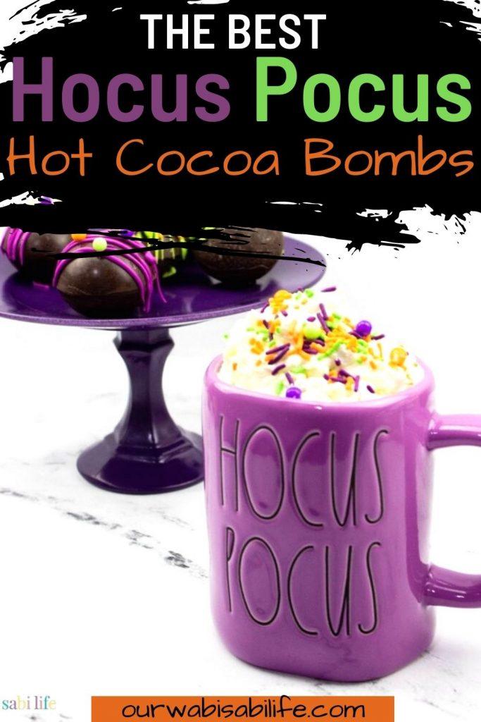 hocus pocus hot cocoa bombs pinterest image