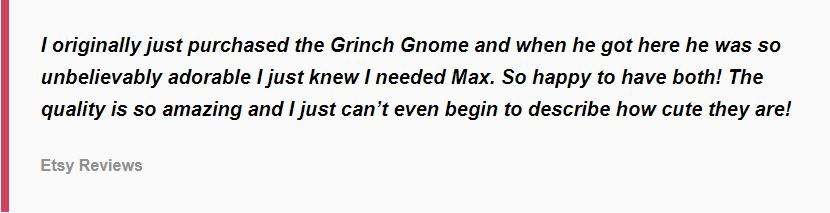 Review of the Grinch gnomes
